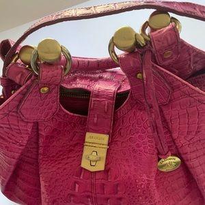 Brahmin Elise Hobo Bag.Color: Raspberry